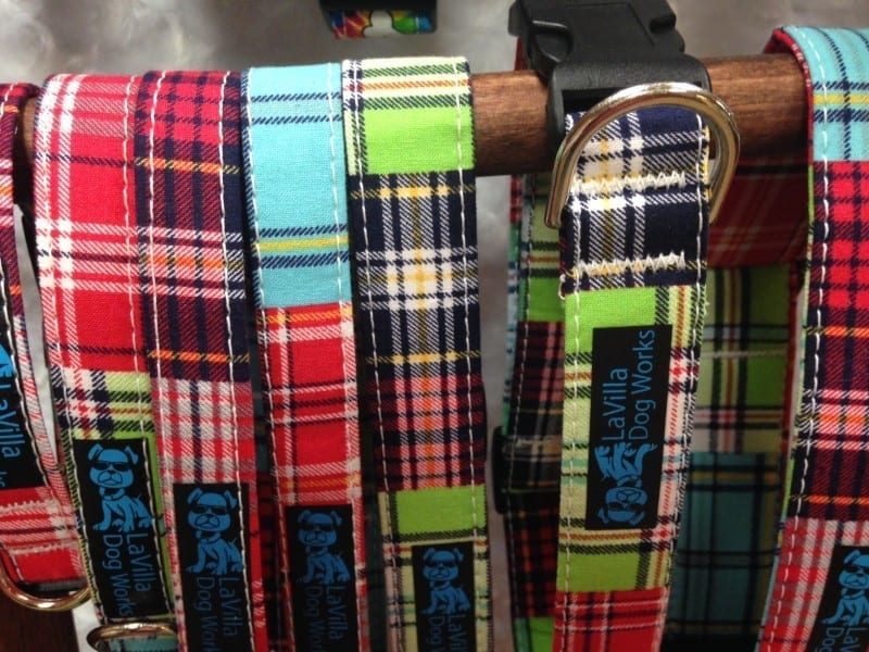 plaid textiles in multiple color selections