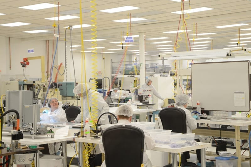 Workers in Epimed Clean Room