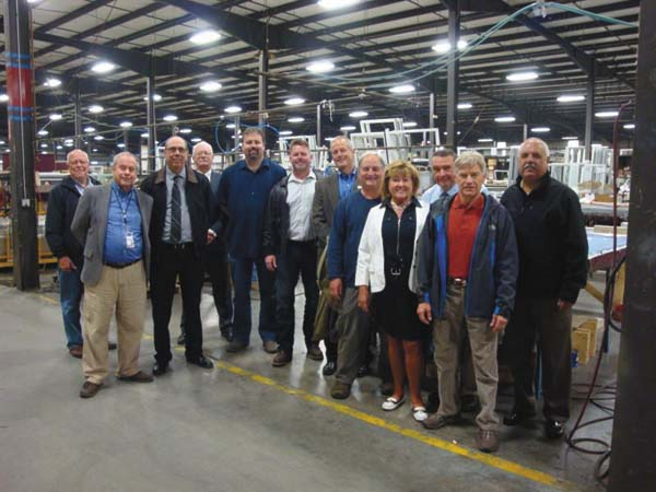 Board on Tour of Broadalbin manufacturing